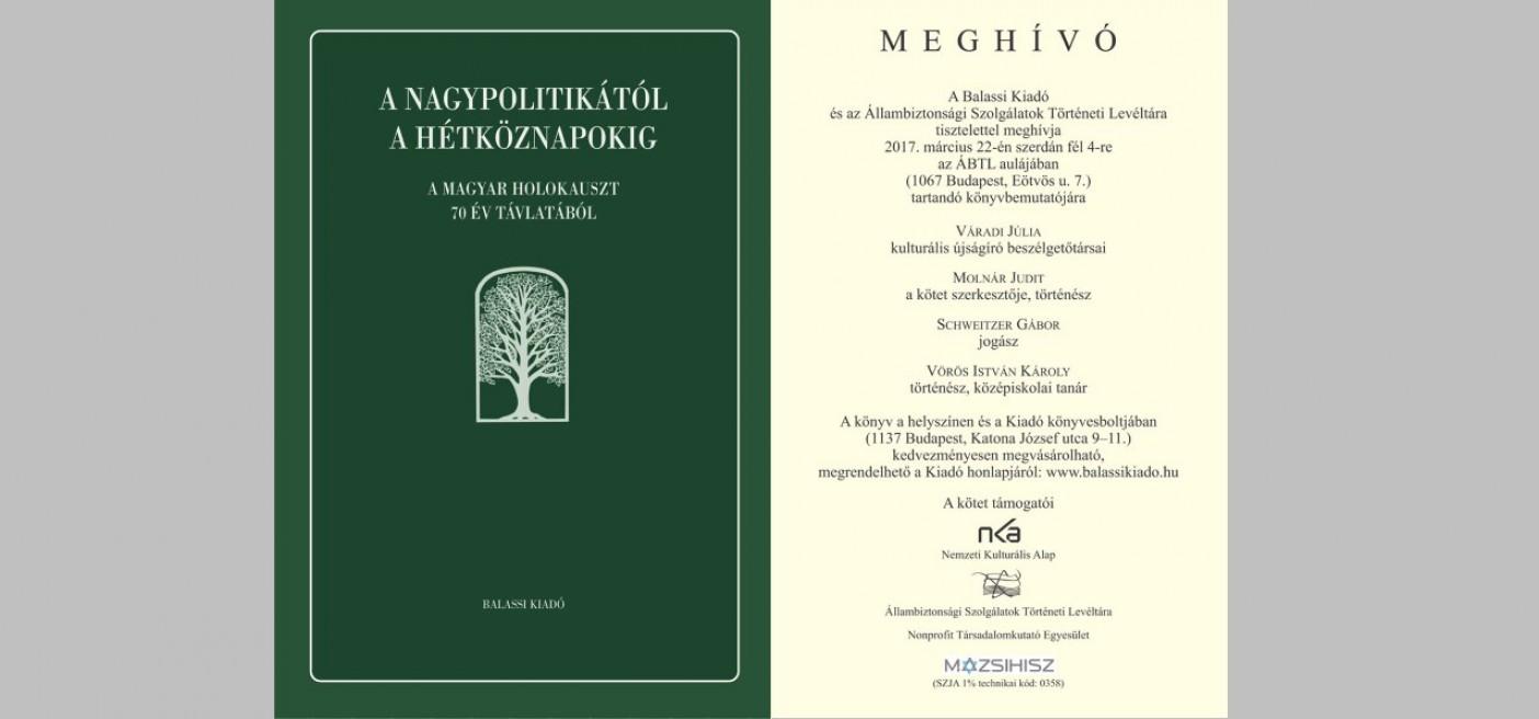 Könyvbemutató - A nagypolitikától a hétköznapokig