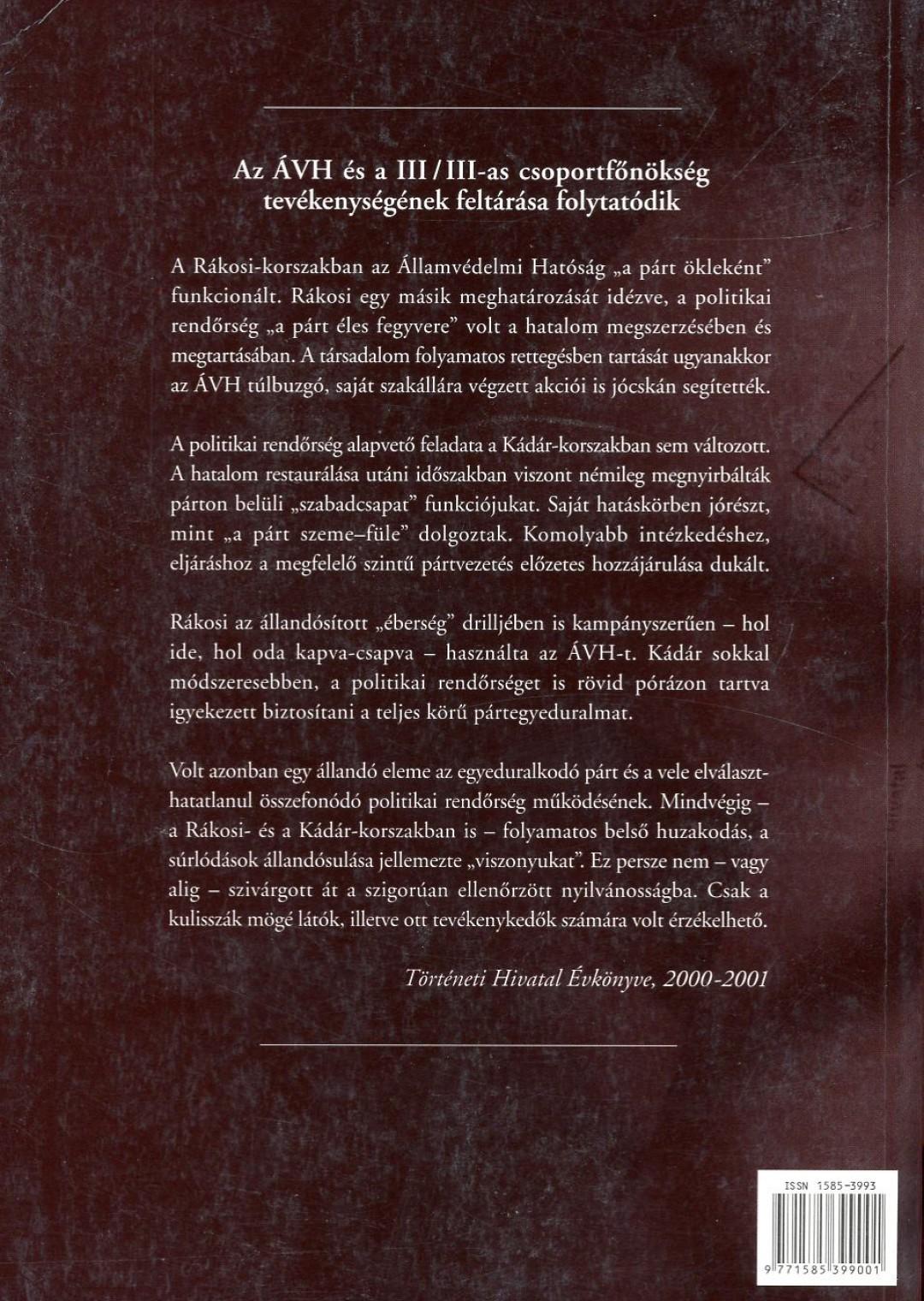 A Történeti Hivatal évkönyve 2000-2001